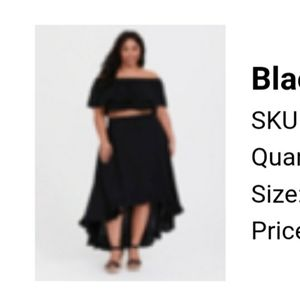 2 pieces crop top and skirt (plus size)